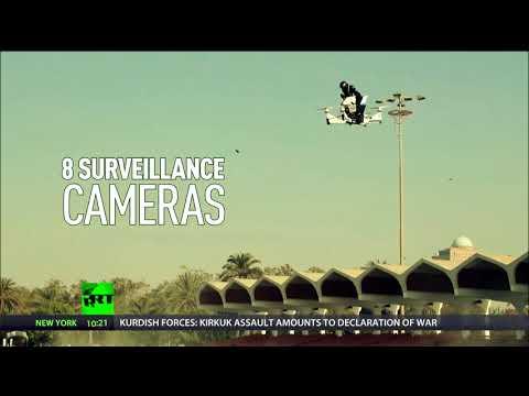 Motorbike-drone hybrid takes crime-fighting to the skies in Dubai