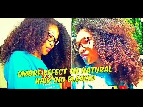 Natural Hair dye With Dark & Lovely- Ombré Effect (NO BLEACH)