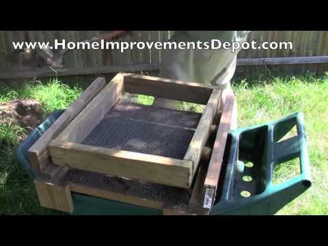 Build Your Own Dirt and Soil Sifter - Cheap and Easy!