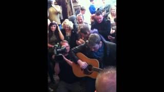 James Arthur Singing At His Homecoming