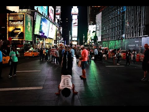 50 Pushups in Time Square, New York #drive2inspire