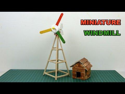 How to make Miniature Windmill DIY | Crafts ideas