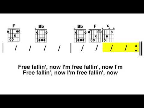 Free Fallin' (Tom Petty) Chord and Lyrics Play-Along