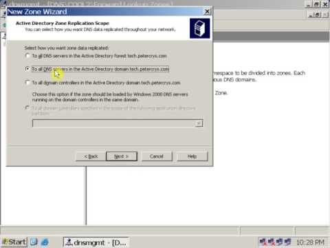 21 Install and Configure Domain Name System (DNS) on Windows Server 2003 for Internal Website