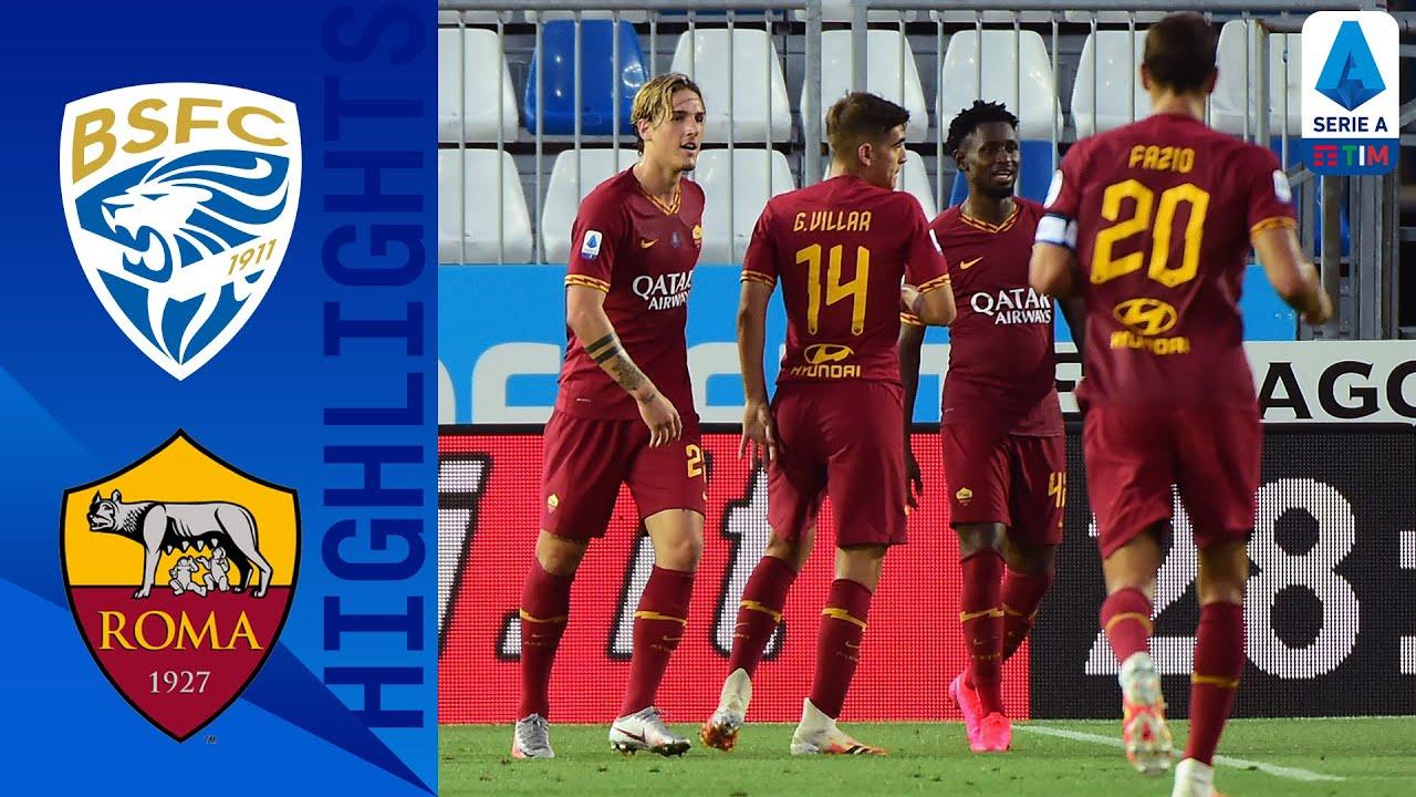 Brescia 0-3 Roma   Fazio, Kalinić and Zaniolo Score in Dominant Roma Victory   Serie A Tim