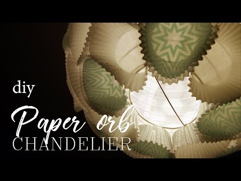 HOW TO: DIY Paper orb Chandelier