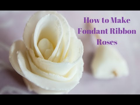 How To Make Fondant Ribbon Roses for Cake Decorating | Bake It With Love