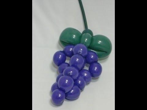 Как сделать гроздь винограда из шаров ШДМ / How to make a bunch of grapes from balloons SDM