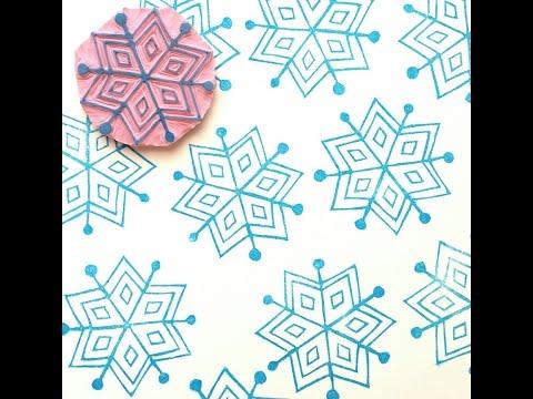 Stamp Carving: Snowflake