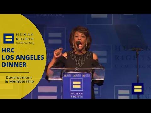 U.S. Representative Maxine Waters Speaks at HRC Los Angeles Dinner