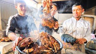 Street Food in UZBEKISTAN - GIANT MEAT BUCKET + Best Street Food in ASIA - TANDOORI MEAT CAVE!!!