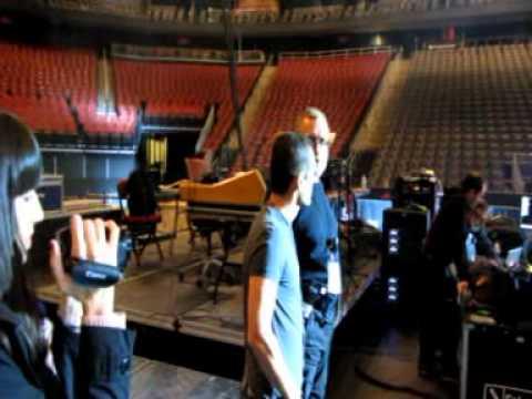 Backstage del Concert del Bruce a Newark