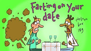 Farting On Your Date Cartoon Box 189 By FRAME ORDER Hilarious Dating Cartoon