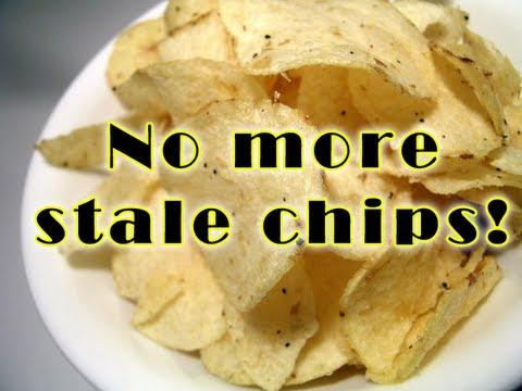 Refresh stale potato chips and make them crisp again
