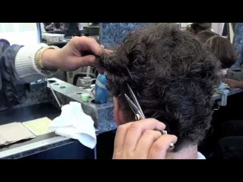 Man's Haircut for curly hair