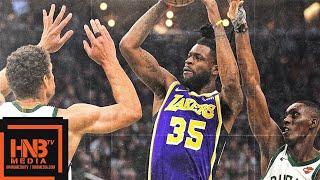 Los Angeles Lakers vs Milwaukee Bucks Full Game Highlights | March 19, 2018-19 NBA Season