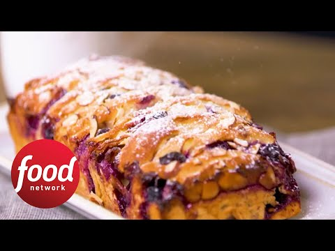 Blueberry-Cream Cheese Pull-Apart Bread | Food Network