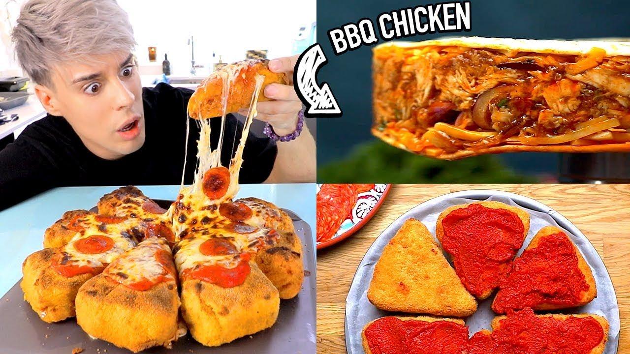 i made the *gross* DEEP FRIED BBQ chicken pizzadilla