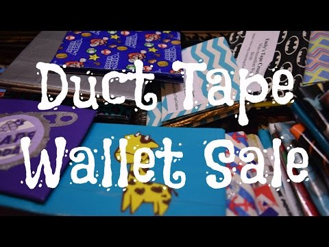 HUGE Duct Tape Wallet Sale!!