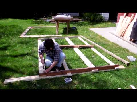 Modular shed part 1: The framing