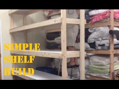 Storage Shelves: Cheap and  Easy
