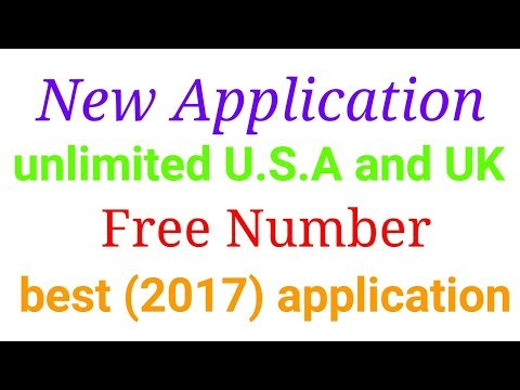 How to Make unlimited U.s.a and UK free numbers (2017) best application  free numbers