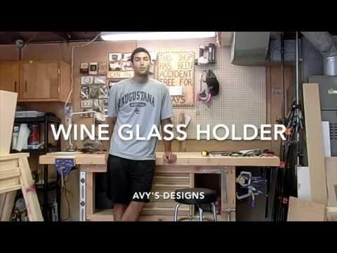 Make a Wine Glass Holder Using Oak