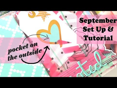 DIY Printed Acetate with outside POCKET | September Set-Up | Fairytale Club
