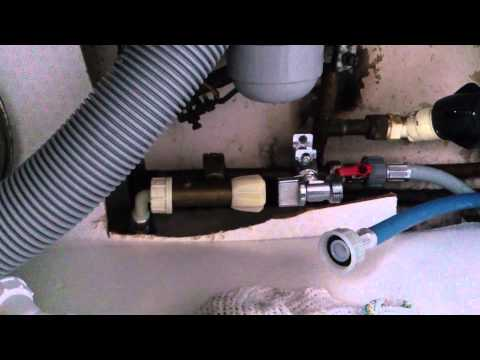 How to fit install a self cutting washing machine tap