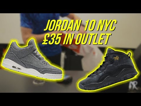 JORDAN 10 NYC FOR £35?! (50% OFF NIKE OUTLET)