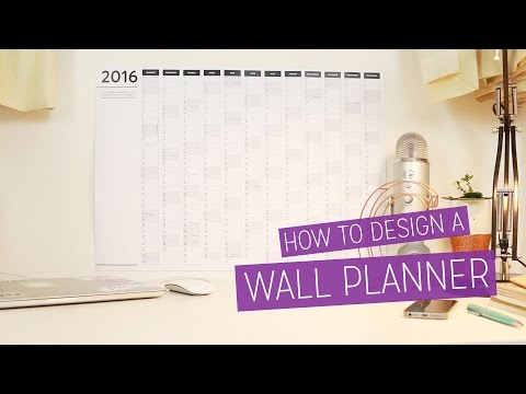 DIY 2016 Wall Planner - Design Tutorial  | CharliMarieTV