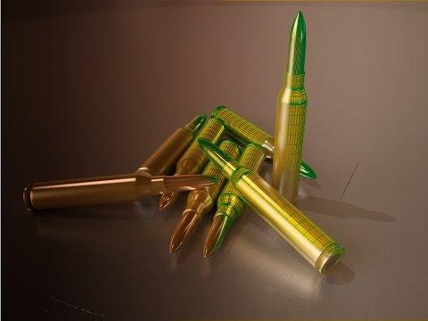 Tutorial #02  Vray rendering machine gun bullets (3ds max) [1080p]