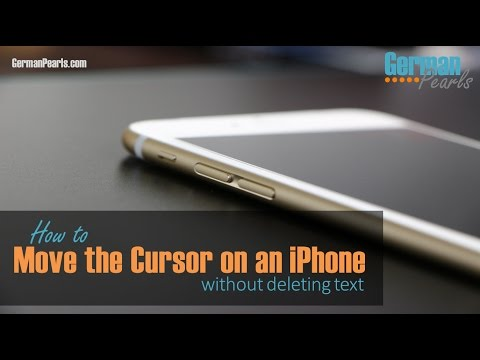 How to Move the Cursor on an iPhone (without deleting text)