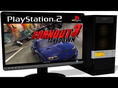 PCSX2 1.5.0 PS2 Emulator -  Burnout 3: Takedown (2004). Ingame. DirectX 11. Test #1