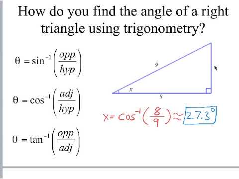 Finding Angles of Right Triangles using Trig