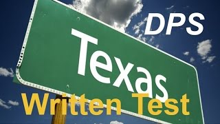 Texas Dps Test Questions 1 For Permit Practice And Driver S License