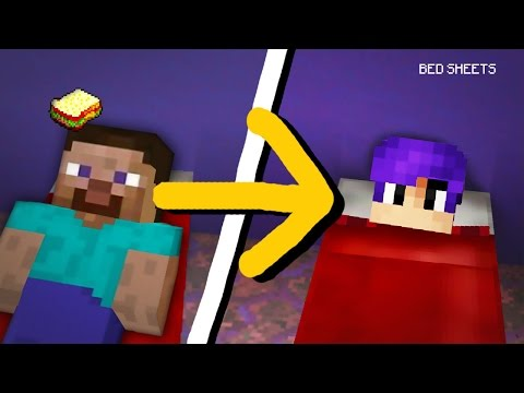 Minecraft, MCPE | How to sleep on the Bed Sheets