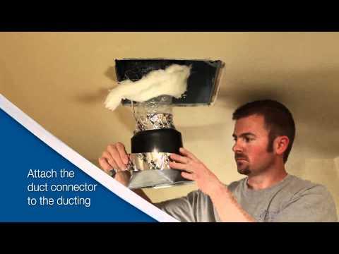 Broan ULTRAGREEN™ Series Ventilation Fan - Installation Video for Retrofit