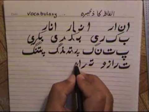 Lesson-7 (Urdu Alphabets And Vocabulary Part-1)