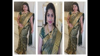 HOW TO DRAPE A HEAVY PATTU SAREE