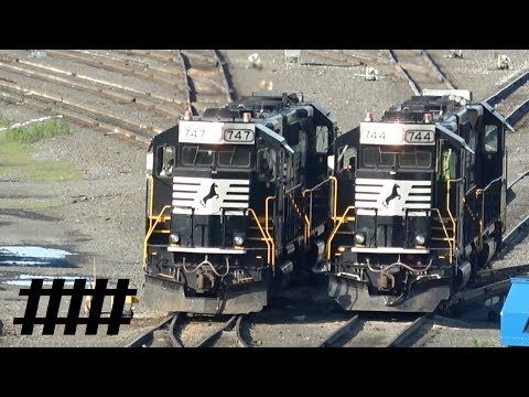 Early Morning Switching at Norfolk Southern's Enola Yard in Enola, PA with NS Trains