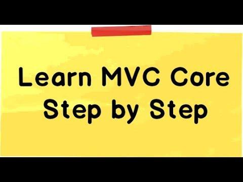 Learn MVC Core Tutorial step by step