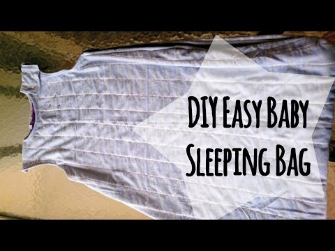DIY Baby Sleeping Bag from Old Blankets