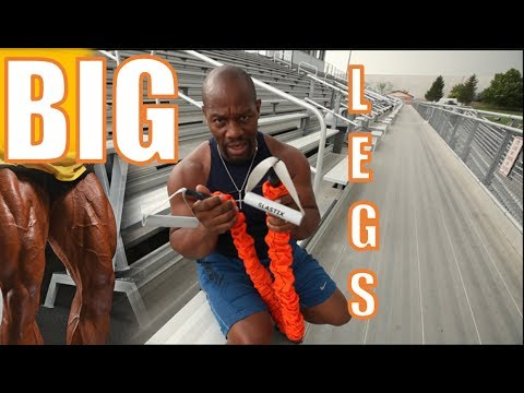 How to Get *** BIG LEGS *** RESISTANCE BANDS (leg extensions, outdoor workout, home exercises)