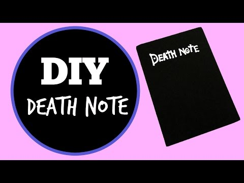 DIY Death Note Notebook | Anime Inspired Crafts