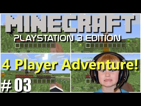 Minecraft PS3 Edition: 4 Player Adventure - #3 So Dark!!(Family Multiplayer)