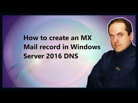 How to create an MX Mail record in Windows Server 2016 DNS