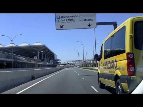 Málaga Airport car rental return route
