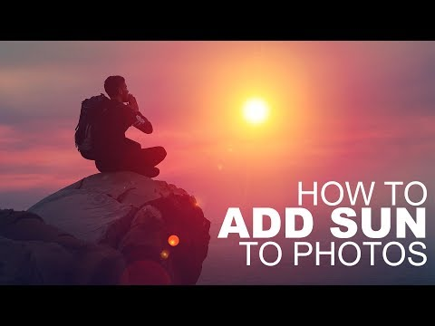 How to Add Sun to Photos in Photoshop using Blending Modes - Photoshopdesire.com
