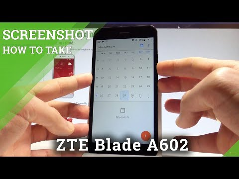 How to Take Screenshot on ZTE Blade A602 - Capture Screen Tutorial |HardReset.Info